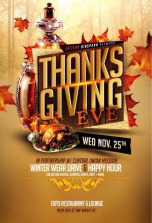 2015 Thanksgiving Eve Happy Hour & Winter Wear Drive