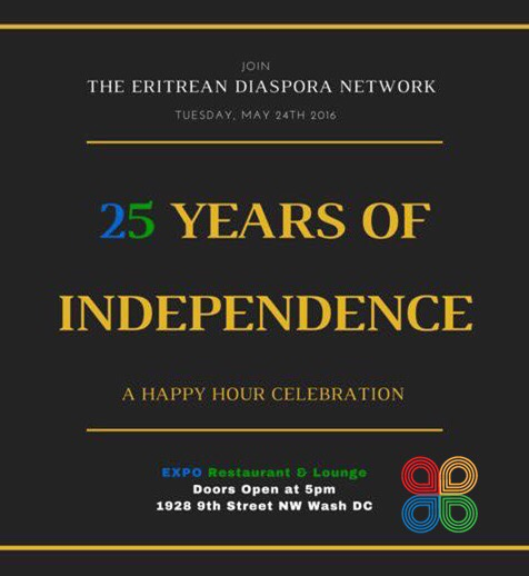 25th Eritrean Independence Day Happy Hour Celebration